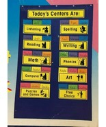 Learning Centers Pocket Chart Carson Dellosa Classroom Kindergarten Thro... - $14.99