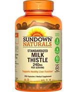 Sundown Naturals Standardized Milk Thistle, 250 capsules - $11.75
