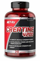 MET-Rx Creatine 4200 Pre or Post Workout Supplement, Creatine Capsules, ... - $19.80