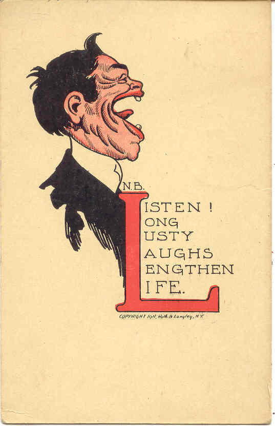 Listen Long and Laugh artist N B 1910 Vintage Post Card