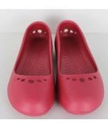 Crocs Prima Femmes Ballerine Chaussures Plates à Enfiler Rose Taille 7 - $18.41