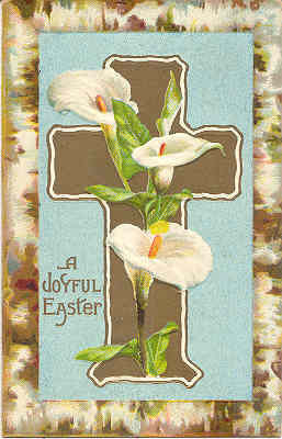 A Joyful Easter Vintage Post Card