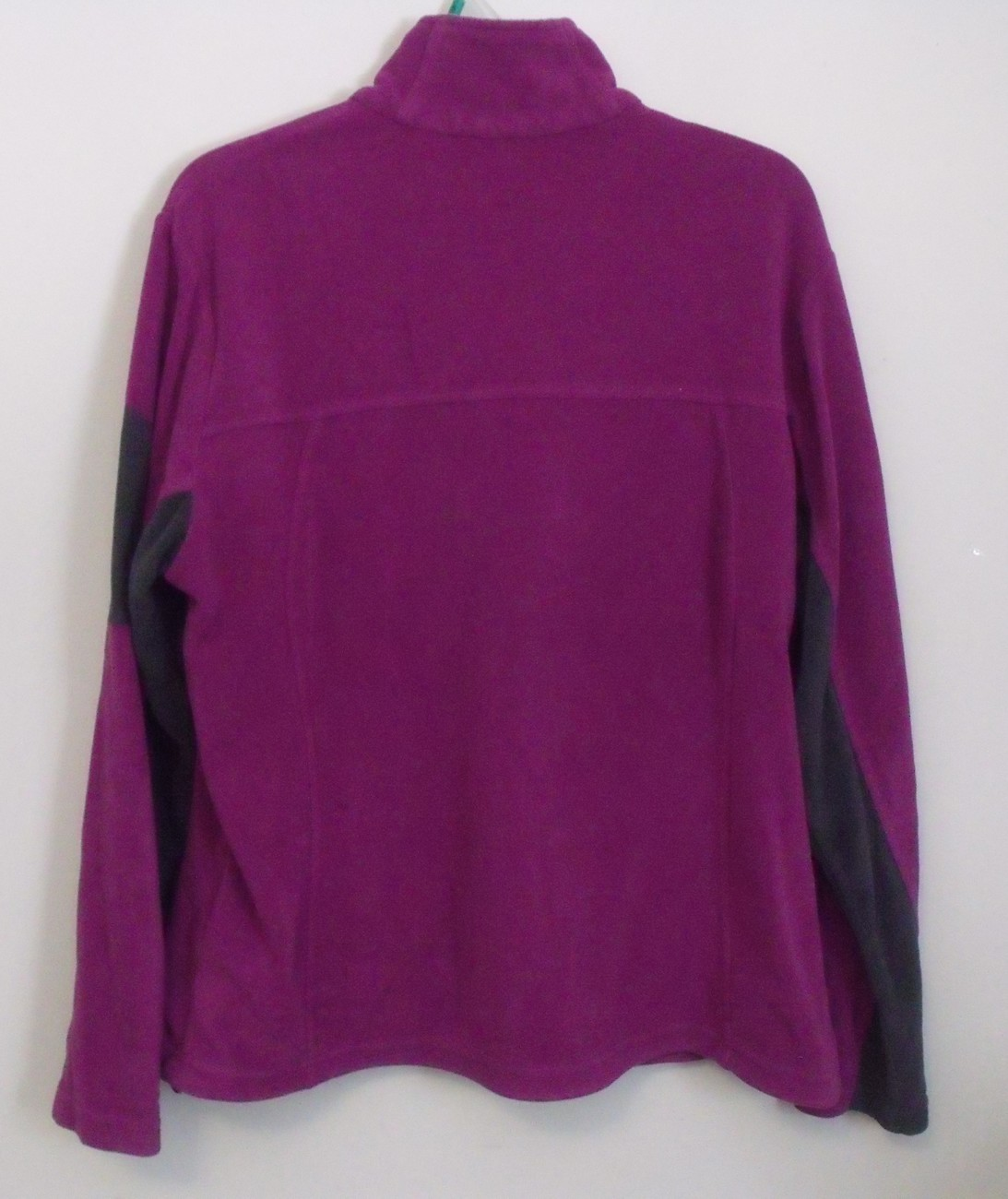 Womens North End Lavender Black Long Sleeve Full Zip Fleece Jacket Size Large