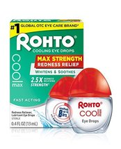 Rohto Cool Max Maximum Redness Relief Cooling Eye Drops, 0.4 Ounce, 3 Count image 11