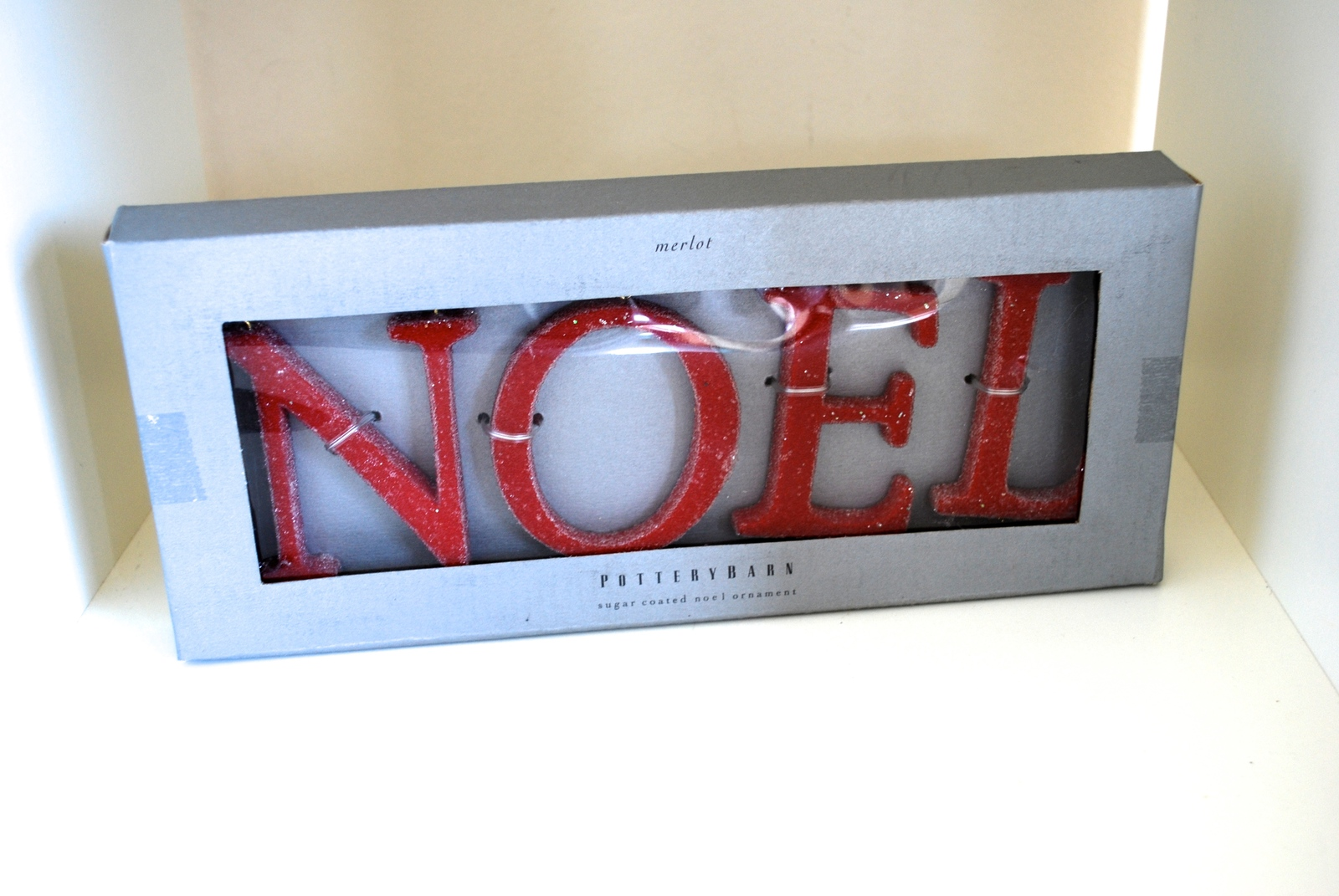 Pottery Barn Christmas Sugar Coated Noel Ornament