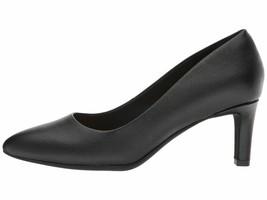 Clarks CALLA ROSE Black Women's Leather Closed Toe Pump 31857 - $76.90