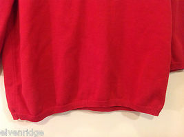 Alfred Dunner Red 3/4 Sleeve Sweater USA Flag Imitation, Size M, 100% cotton image 5