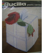 Pattern Kit, Bucilla Roses Tissue Box Cover  - $5.00