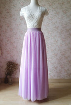 Purple Full Maxi Tulle Skirt Plus Size Wedding Bridal Bridesmaid Maxi Tutu Skirt