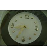 Clock Plate, Brown & White  - $13.00
