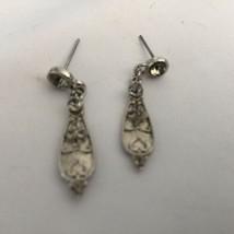 Grandmas Estate Silvertone Disney Paatels Pierced Earrings (2047) - $10.88