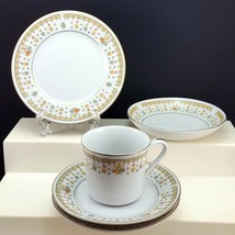 Fine China of Japan Garden Bouquet Cake Plate Berry Bowl Cup and 2 Saucers - $21.66