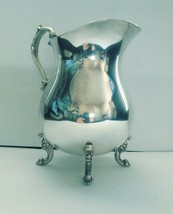 Vintage Silver Plated Water Pitcher By English Silver Mfg. Corp Made In USA - $45.49