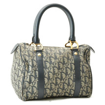 Christian Dior Trotter Canvas Hand Bag Navy Auth 8720 - $298.00