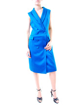 Bless'ed Are The Meek Women's Long Vest Blue Size US 4 RRP $220 BCF611 - $115.08