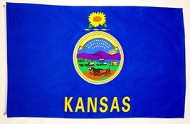 State of Kansas Flag 3' X 5' Indoor Outdoor State Banner - $9.95