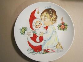Santa And Girl Collector Plate Charlot Byj 2nd Ed. 1974 Goebel Christmas Germany - $19.99