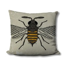 Honey Bee Pillow - Farmhouse Summer Decor - Honey Bee Decor - Large Honey Bee Pr - $12.99