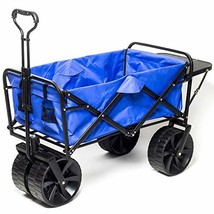 Collapsible Wagon Beach Cart, All-Terrain Wagon Foldable Cart Beach Wago... - $137.79