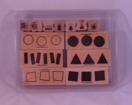 Stampin' Up! FUN WITH SHAPES Set of 13 Decorative Rubber Stamps Retired - $19.99