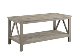 "Linon 86151GRY01U Titian Industrial, Gray Coffee Table, 44"" W x 21.97"" D... - $131.06"
