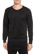NWT Mens Alo Yoga Yama Diamond Quilted Crew Neck Sweatshirt in Black sz XXL - $66.33