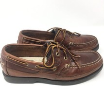 Mens Timberland 2 Eye Briggs Bay Boat Brown Leather Casual Shoes 80521 S... - $725,05 MXN