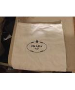 NEW PRADA Authentic dust bag sleeper White Flannel for handbags shoes 12x12 - $13.85