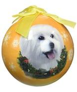 E%26amp;S Pets Maltese Puppy Cut Shatterproof Christmas Ornament - $13.04