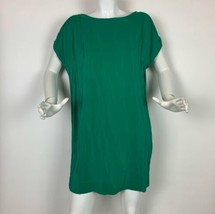 Joie Dress Silk Emerald Green Shift Boat Neck Cold shoulders Sz S - $59.99