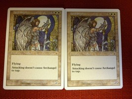 x2 ARCHANGEL Starter 1999 MTG Playing Cards English - Rare - $4.46