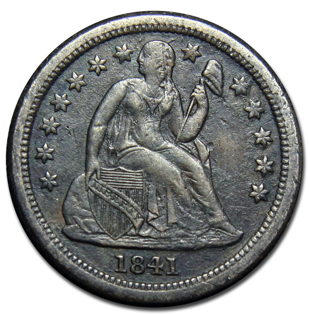 1841O Silver Seated Liberty Dime 10¢ Lot # MZ 2835