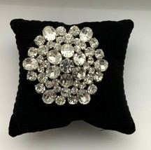 VINTAGE SIGNED WEISS LARGE CRYSTAL PIN BROOCH - $115.00