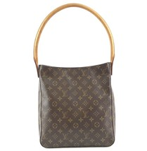 #33576 Louis Vuitton Looping Bucket Gm Tote Brown Monogram Canvas Shoulder Bag image 1