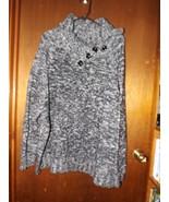 Karen Scott Woman 3/4 Sleeve Heavyweight Black & White Sweater - Size 3X - $28.49
