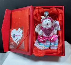 HSN Cares 2015 Swarovski Elements Cupcake Candy Designer Bear Ornament w... - $24.74