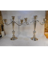 Antique Alvin Sterling Silver Candelabra Set Original Patina - $1,480.05