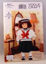Vogue Pattern 8647 Craft Doll with color transfer - $12.86