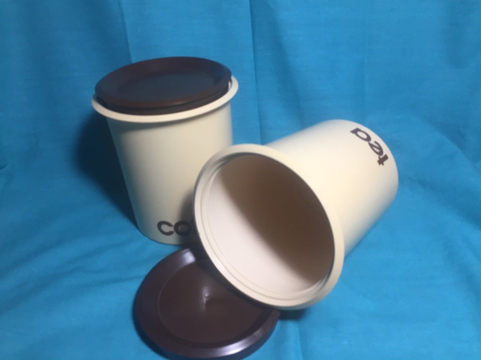 Vintage 70\'s Plastic Kitchen Canister Set and similar items