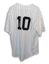 Autographed Chris Chambliss New York Yankees Pinstripe Majestic Jersey Inscribed - $149.00