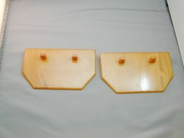 2 Marbled Butterscotch Art Deco Bakelite Holders Stands Bases Unusual - $149.00