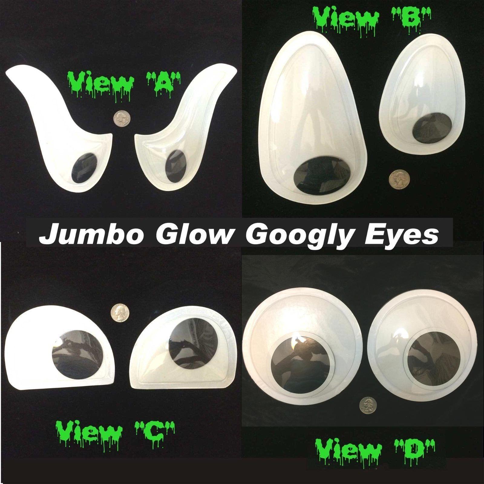 Snowman Wiggle GLOW GIANT GOOGLY EYES Jumbo Craft Gag DIY Prop Decoration-CHOOSE