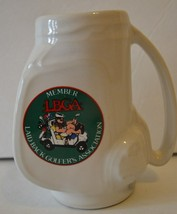 Golf Bag Shaped Coffee Mug LBGA Laid Back Golfers Association Golfing  - $9.89