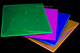 Blacklight Reactive 9.5 Inch Square Twist Plastic Party Plates- 10 ct. - $14.95