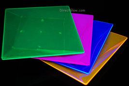 Blacklight Reactive 9.5 Inch Square Twist Plastic Party Plates- 10 ct. - $14.95