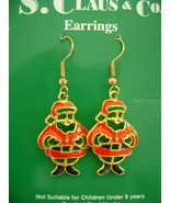 Earrings, Christmas Themed Santa & Tree, 1 Pair Each - $10.00