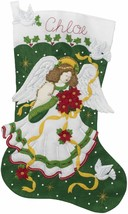 Bucilla 'Poinsettia Angel' Jumbo Felt Christmas Stocking Applique Kit, 8... - $41.99