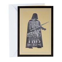 Hallmark Funny Star Wars Graduation Card Darth Vader, The Force Is Strong - $5.94