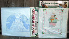 Bucilla Stamped Cross Stitch Christmas Samplers Daisy Kingdom - $12.99