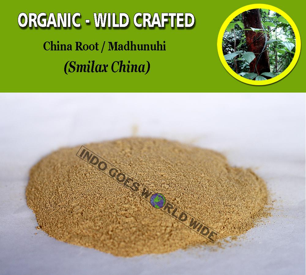 POWDER China Root Madhunuhi Smilax China Organic WildCrafted Fresh Natural Herbs